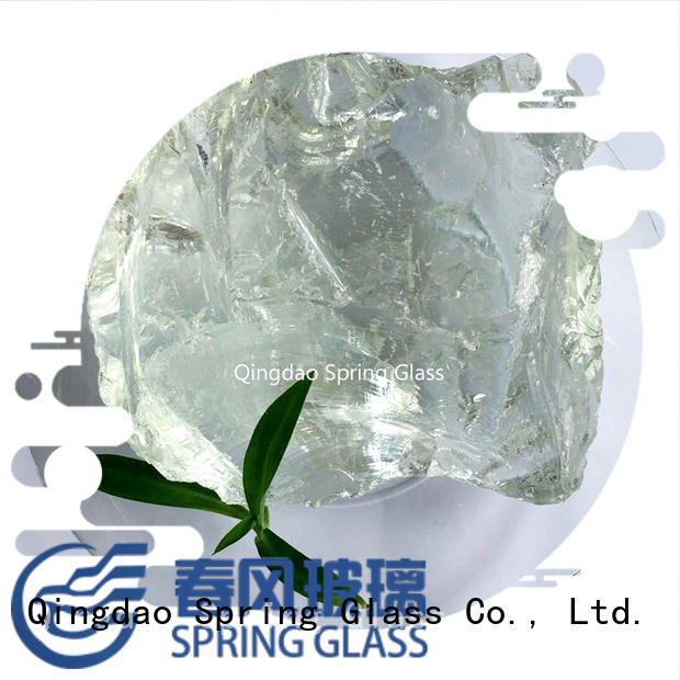 Spring Glass natural fire glass rocks wholesale for square