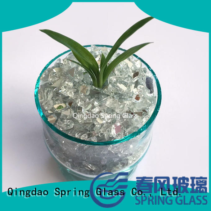 Spring Glass aluminium tumbled glass chips hot sale for engineered stone