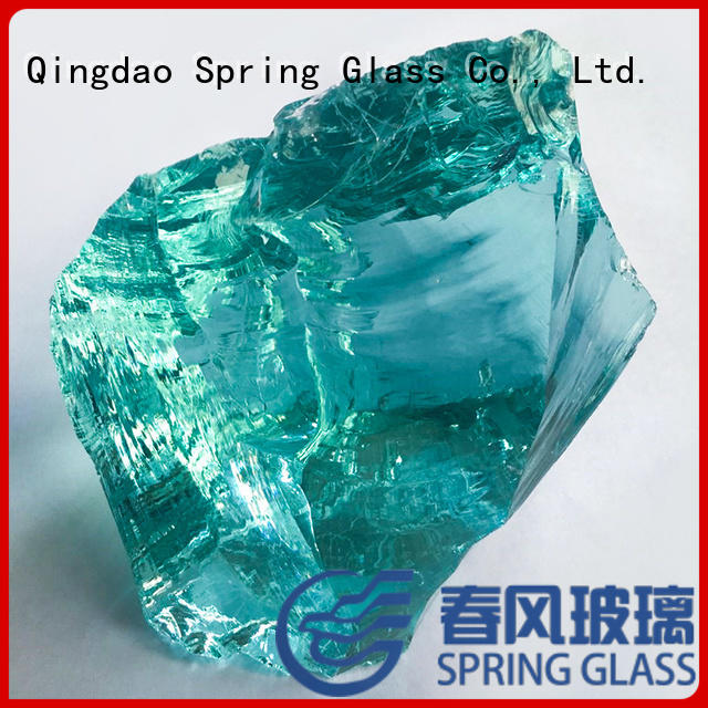 Spring Glass light recycled glass rocks wholesale for home