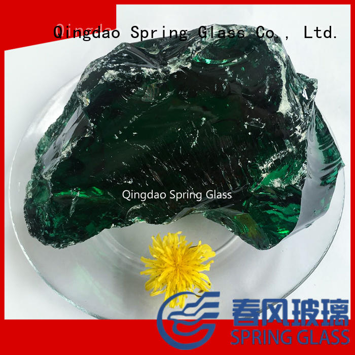 Dark green glass rocks