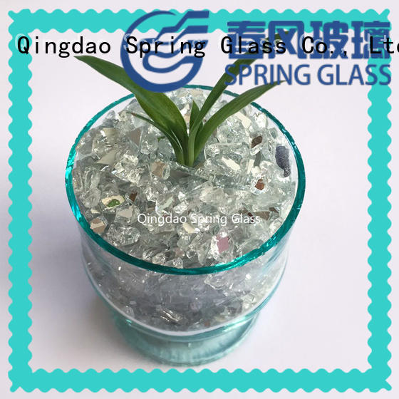 Spring Glass wholesale crushed mirror chips for busniess