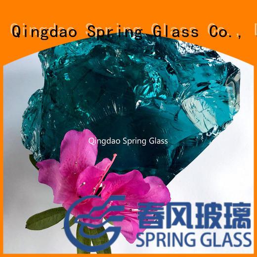 Spring Glass landscaping glass rocks manufacturer for decoration