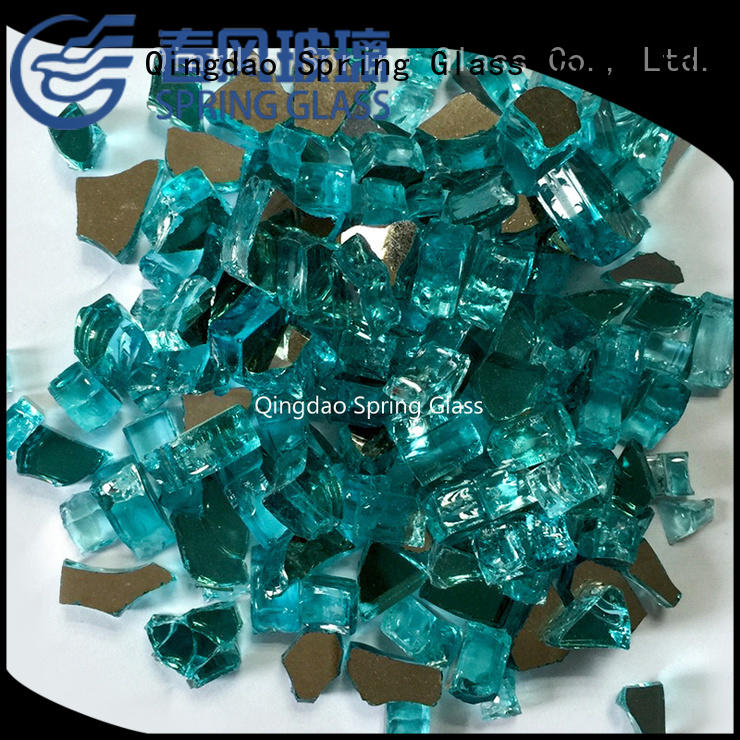 Spring Glass good selling gas fireplace glass rocks wholesale for square