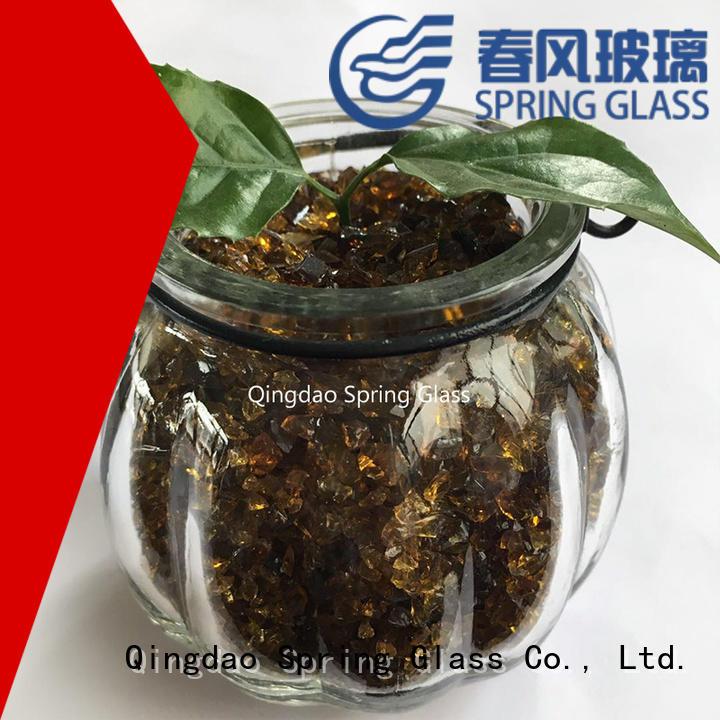 dark crushed glass supplier for kitchen
