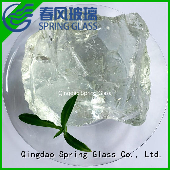 Spring Glass natural landscaping glass rocks factory for decoration
