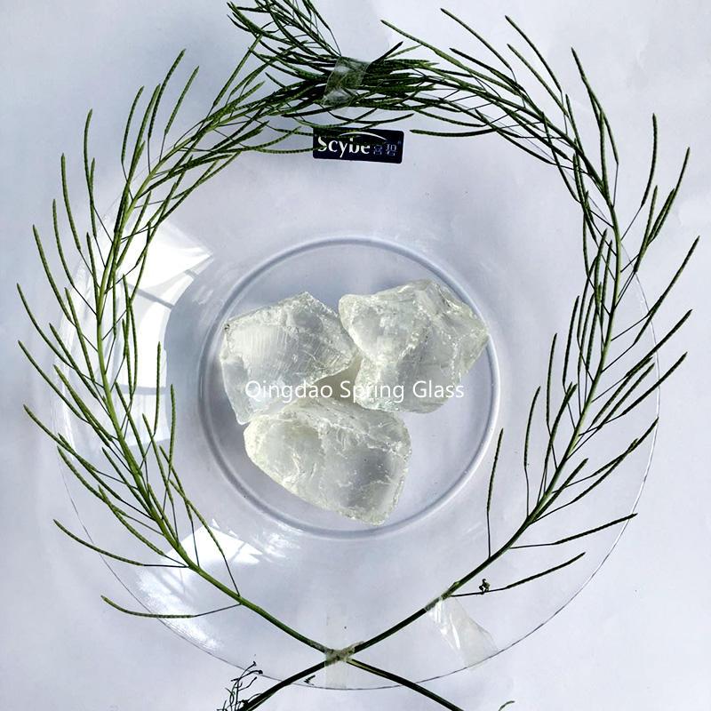 Super White Glass Rocks for Landscaping