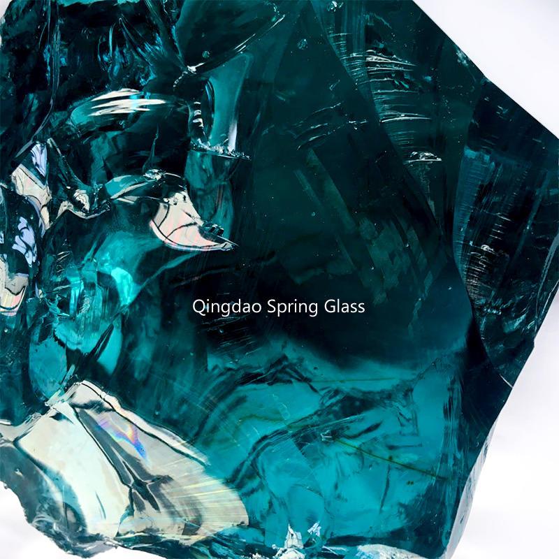 Ocean blue glass rocks