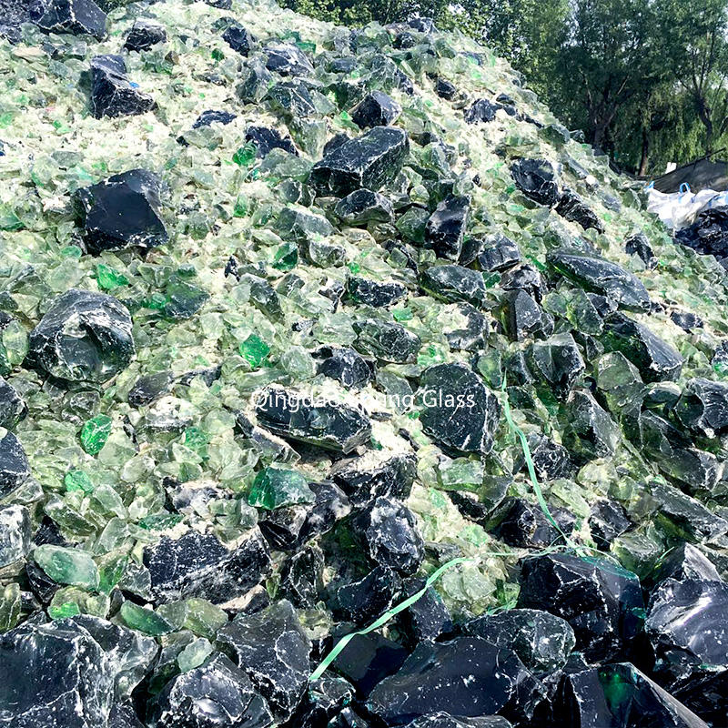 Light green glass rocks