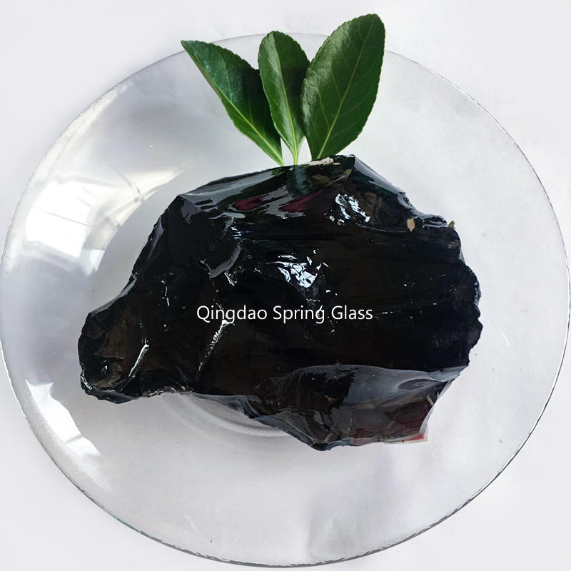 Dark amber natural glass rocks