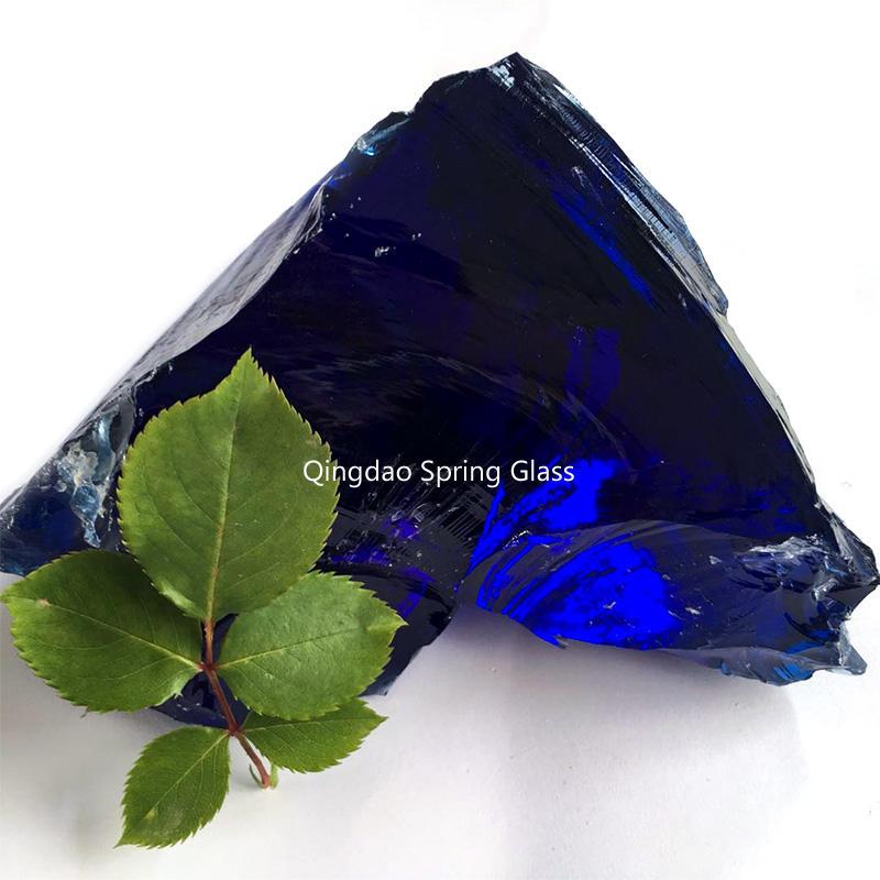 Dark blue landscaping glass rocks