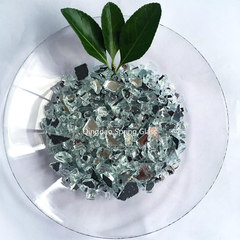 Crushed silver mirror glass mirror chips