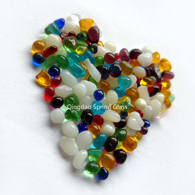 Yellow glass beads