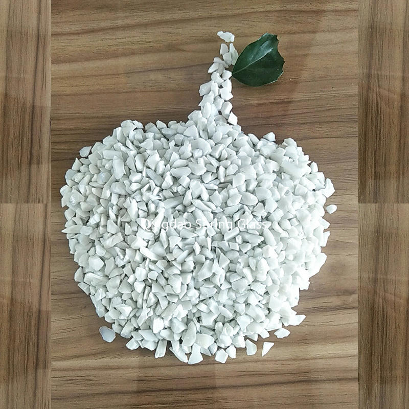 Porcelain crushed glass