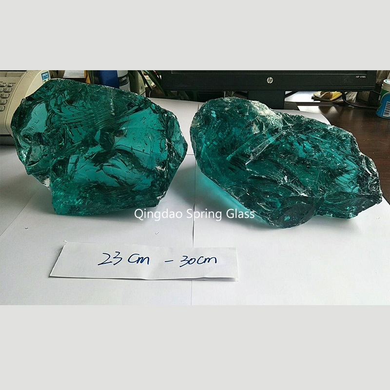 sky blue decorative crushed glass supplier for decoration-1