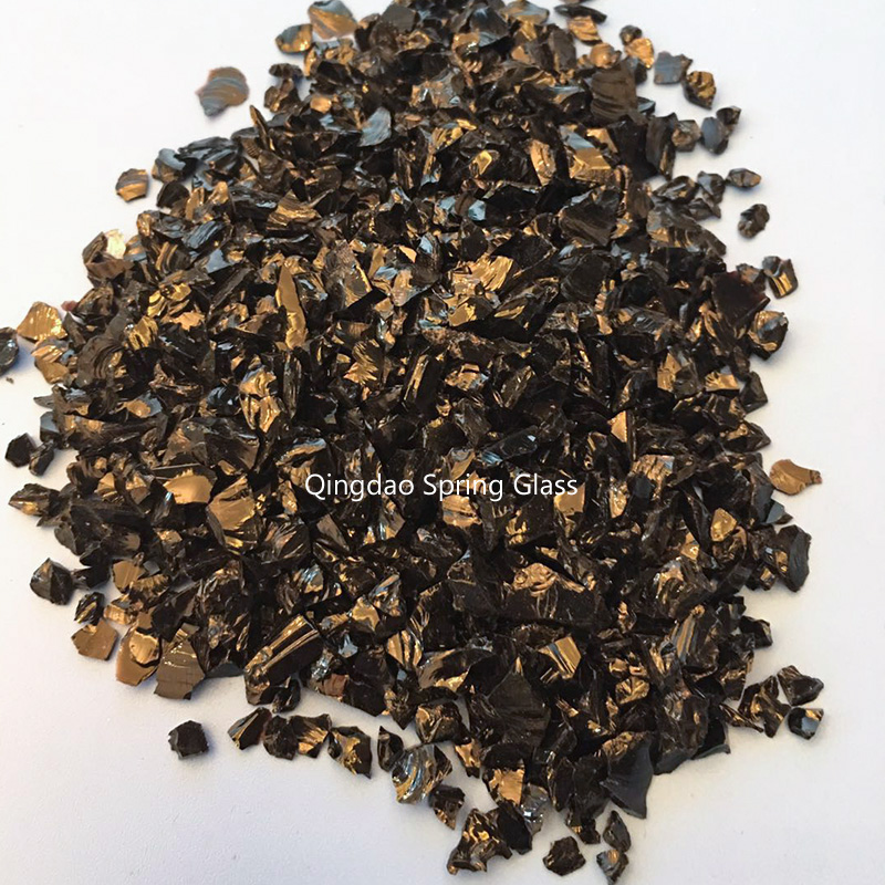 Spring Glass black decorative crushed glass company for sale-2
