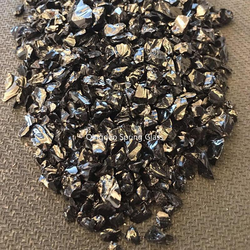 Black crushed glass