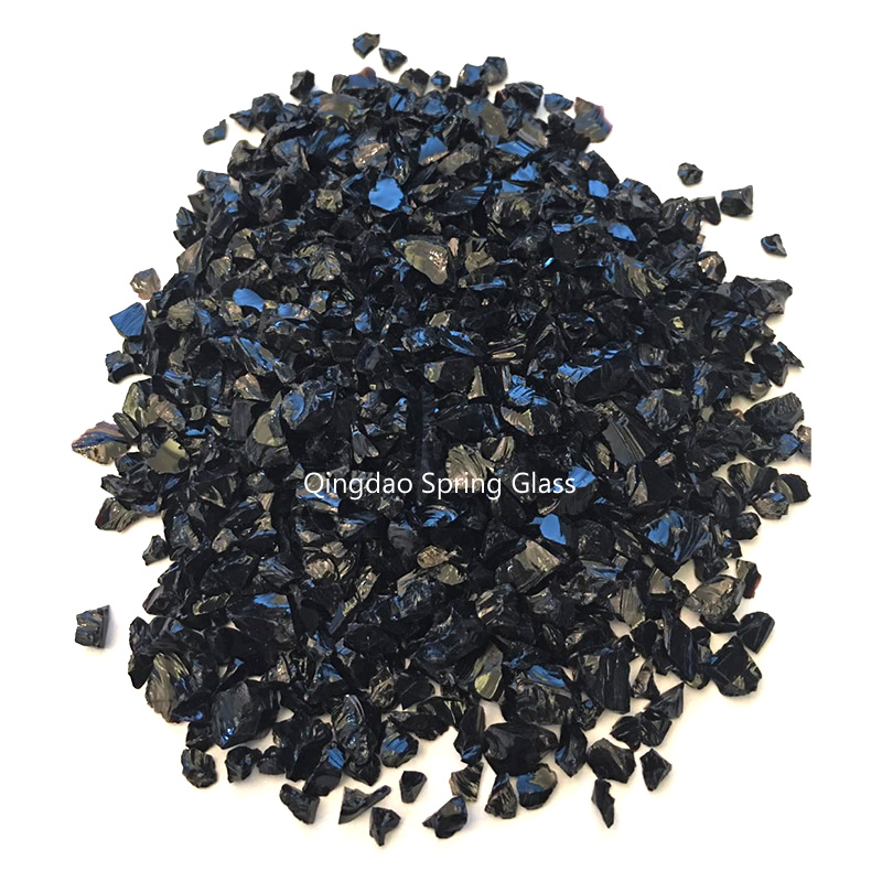 Spring Glass black decorative crushed glass company for sale-1