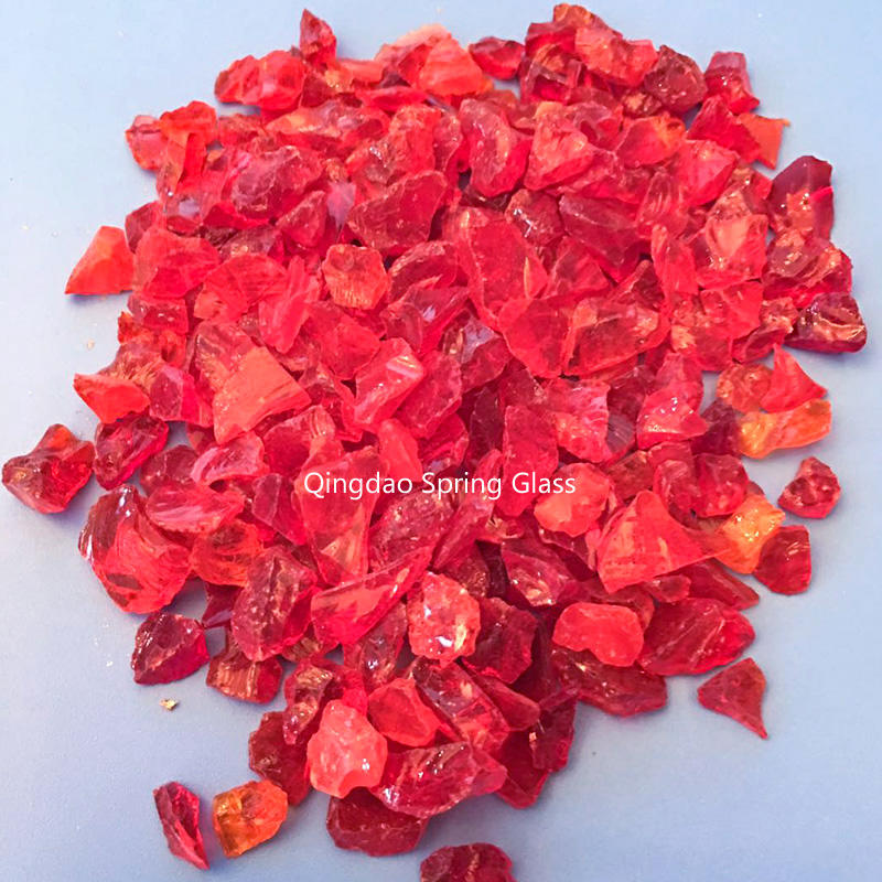 Red crushed glass