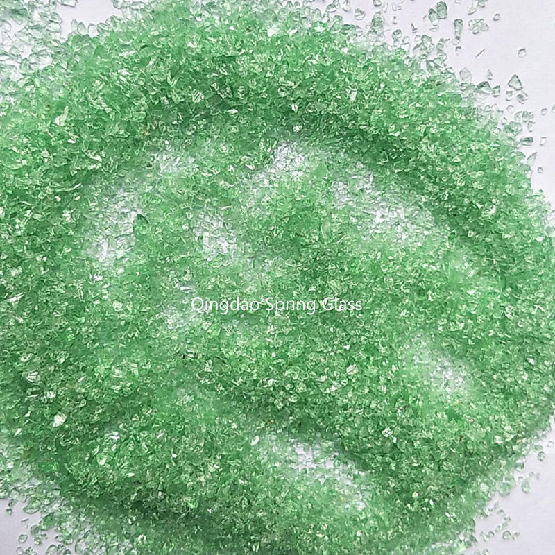 Light green crushed glass