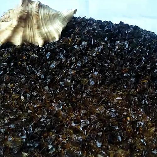 Dark Amber Glass Chips