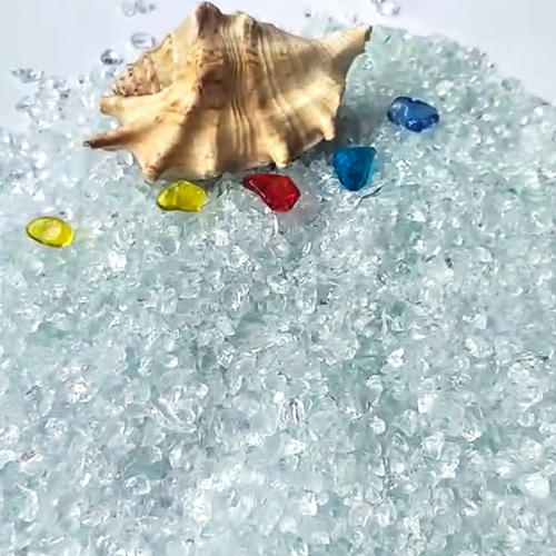 Normal White Recycled Glass Chips