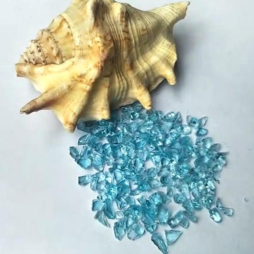 Sky Blue Landscape Crushed Glass