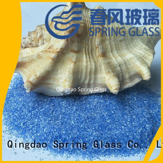 Spring Glass custom black crushed glass manufacturer for sale