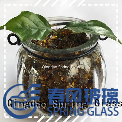 decorative crushed glass for kitchen Spring Glass