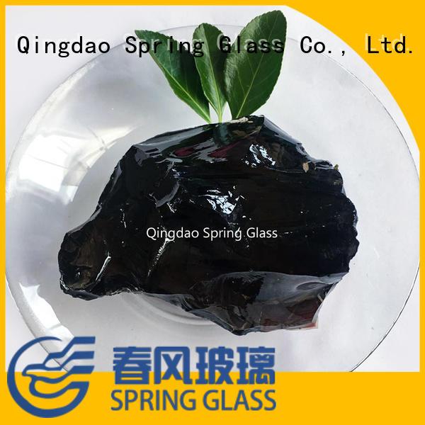 dark recycled glass landscape rocks manufacturer for home