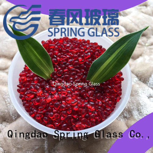 Spring Glass good selling landscaping glass pebbles wholesale for garden