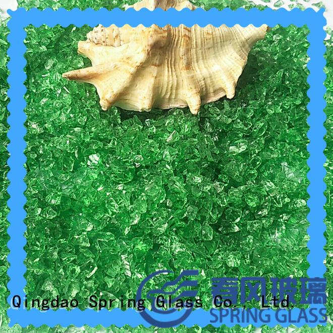 light blue crushed glass manufacturer for floor Spring Glass