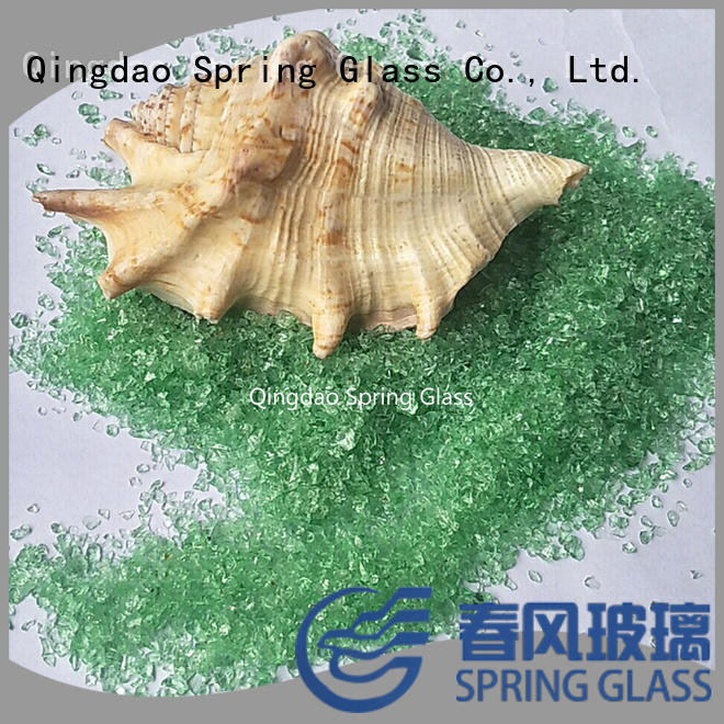 recycled crushed glass for floor Spring Glass
