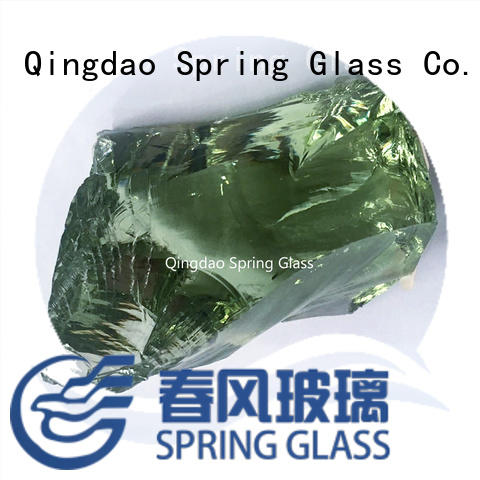 Spring Glass natural fire glass rocks supplier for decoration