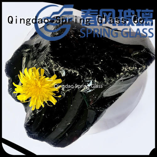 good selling large glass rocks for gardens wholesale for square Spring Glass
