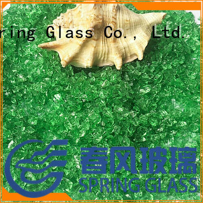custom decorative crushed glass manufacturer for decoration