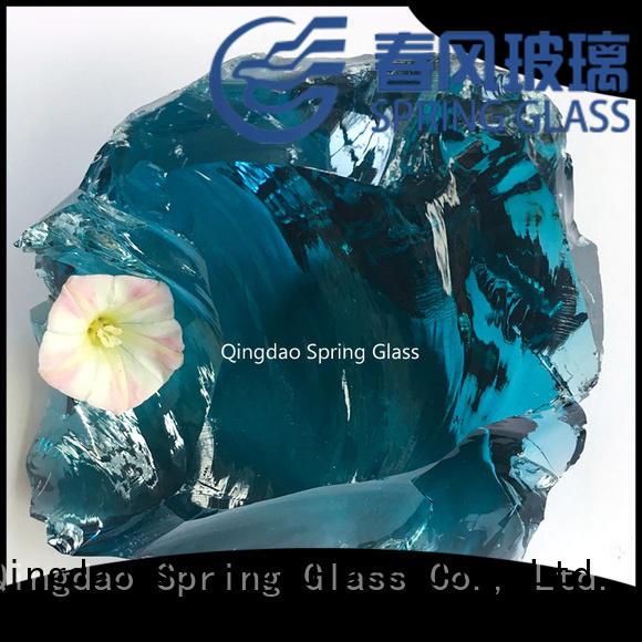 Spring Glass best glass rocks supplier for decoration
