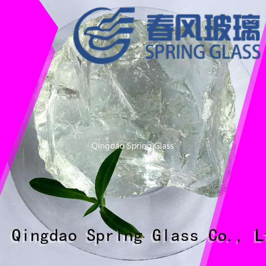 tumbled landscape glass rocks for decoration Spring Glass