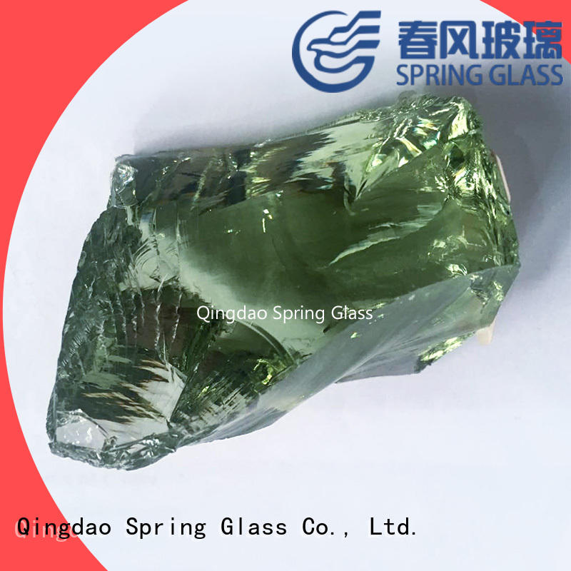 Spring Glass fire glass rocks company for square