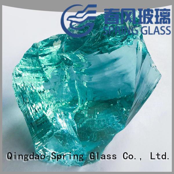 grey landscaping glass rocks wholesale for garden