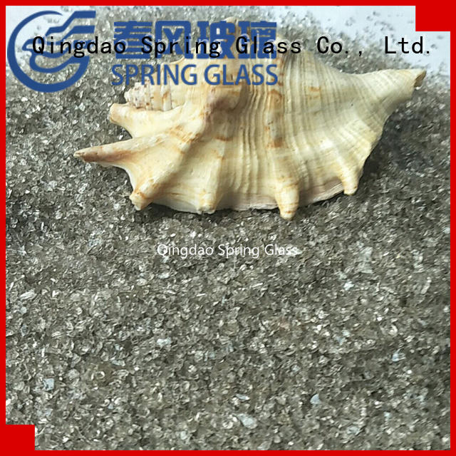 Spring Glass european decorative crushed glass factory for floor