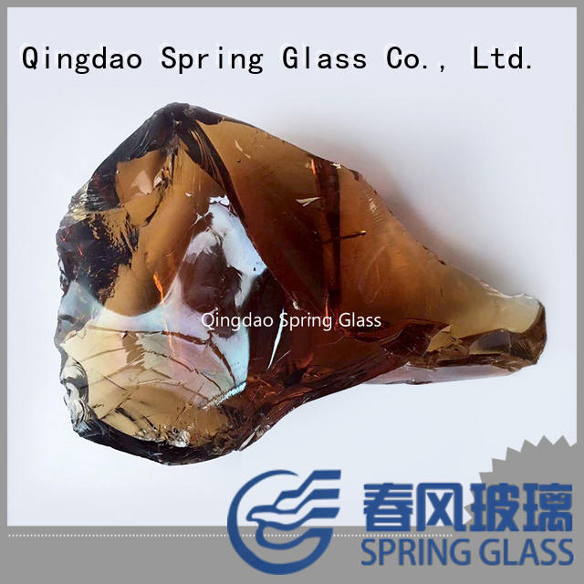 Spring Glass fire glass rocks supplier for decoration