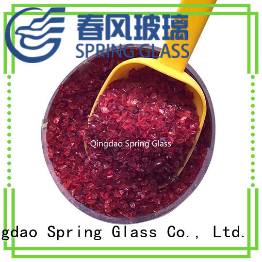 normal silver crushed glass wholesale for decoration Spring Glass