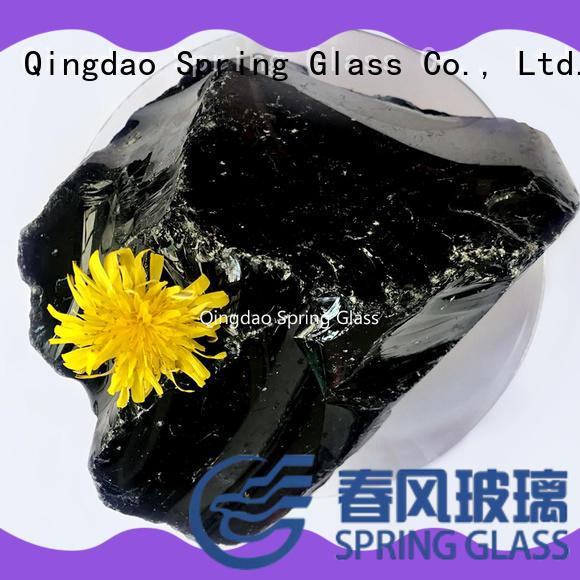 natural fire glass rocks manufacturer for decoration