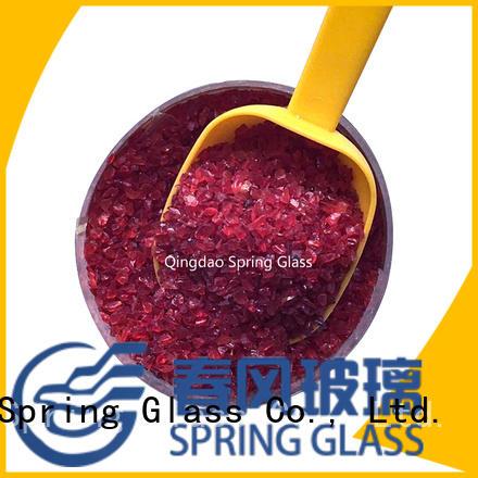 Spring Glass decorative crushed glass manufacturer for decoration