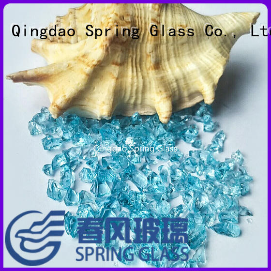 decorative crushed glass wholesale for decoration Spring Glass