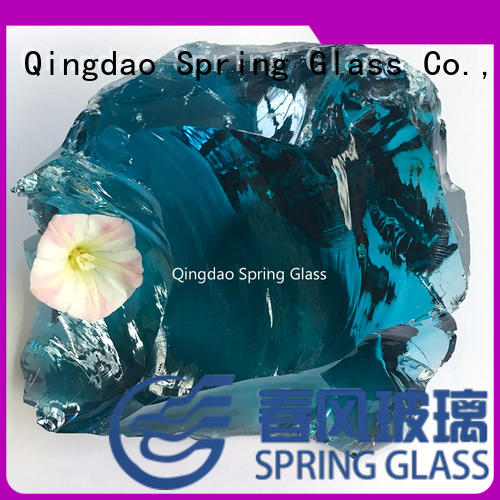 colored glass rocks for vases supplier for garden Spring Glass