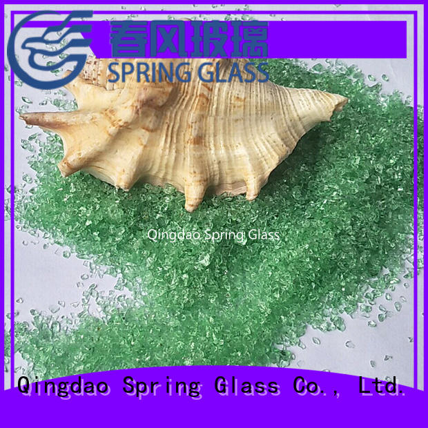 Spring Glass tawny coloured crushed glass superior quality for kitchen