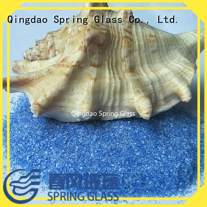 Spring Glass super white crushed tempered glass for sale