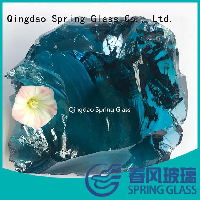 Spring Glass european blue glass rocks wholesale for decoration