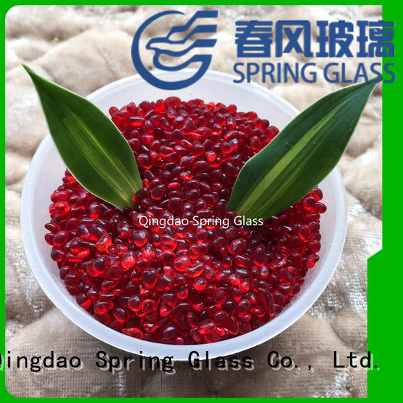 good selling glass pebble wholesale for decoration Spring Glass